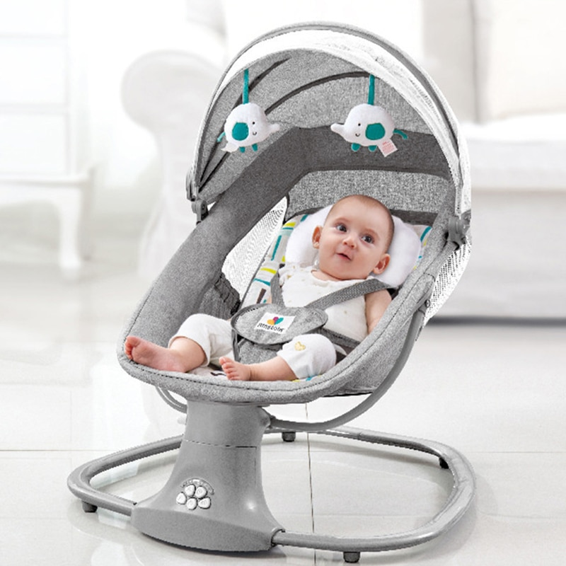Newborns Baby Rocking Chair Child Baby Cradle Electric Sleeping Bed Comfort Swing Reclining Music Chair For Baby 0-3 Years Old