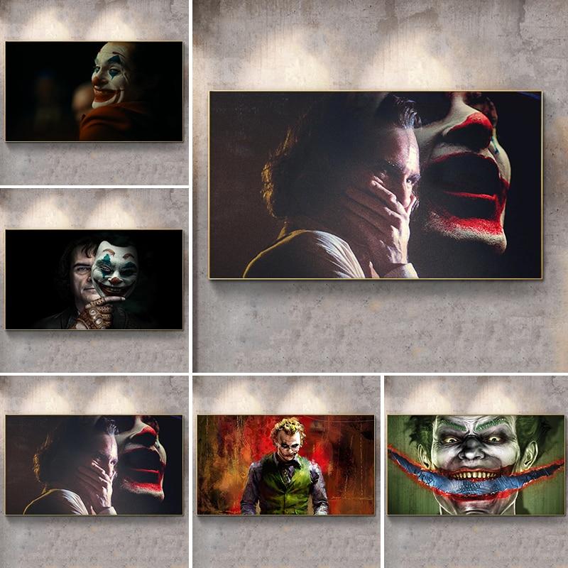 Pósteres de película modernos e impresiones artísticos cuadro sobre lienzo para pared, fotos de payaso llorón para sala de estar, Cuadros del Joker, decoración para el hogar