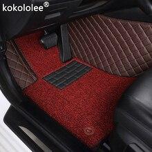 Kokolee-tapis de sol de voiture en cuir   Personnalisé, pour Landrover Evoque RANGE ROVER Velar Discovery 3/4/5 Freelander 2 Discovery, tapis de Sport