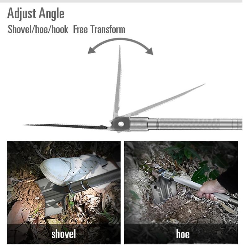 Daugiafunkcis kempingo kastuvas titano išlikimo sulankstomas - Sodo įrankiai - Nuotrauka 3