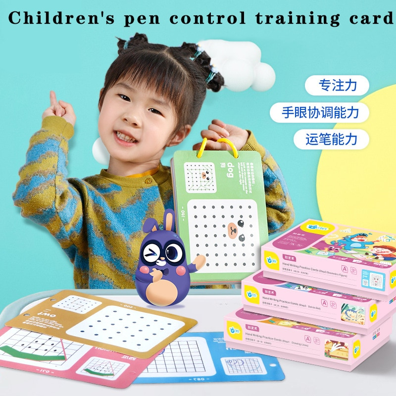 Children's Knowledge Enlightenment Eoys Early Education Childhood Stylus Training Cards Primary School Student Learning Books