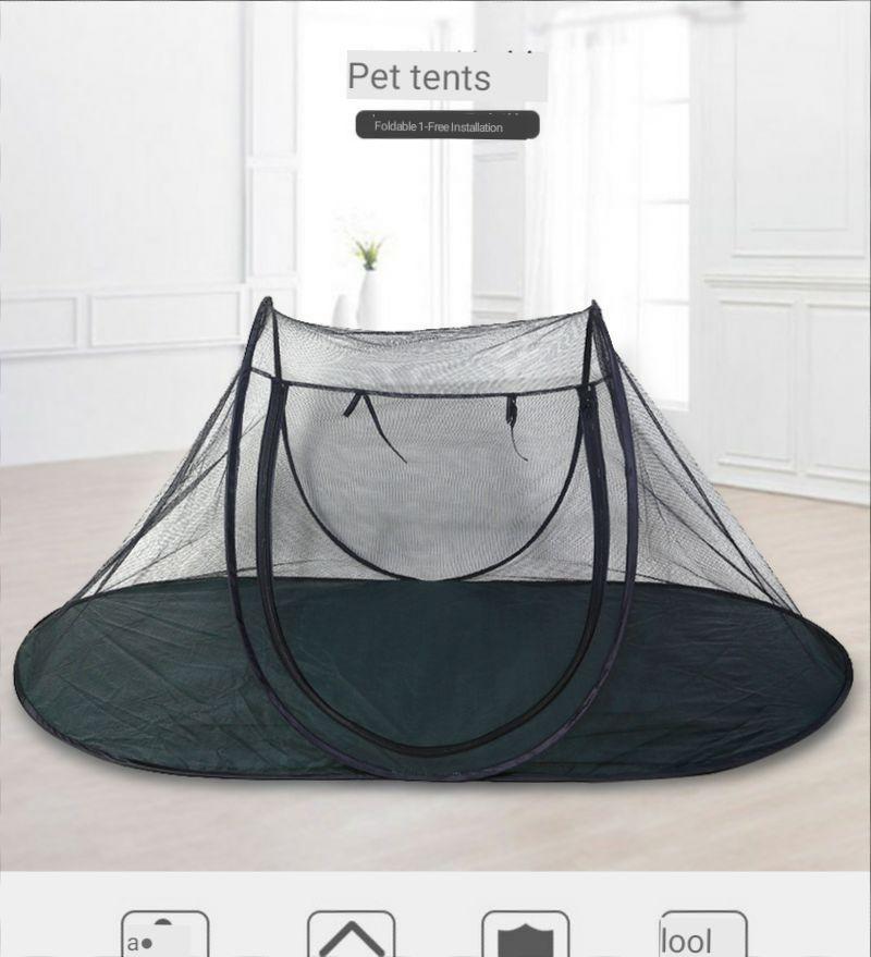 Tienda de campaña plegable para mascotas, jaula para perro en exteriores, nido...