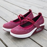 summer loafers women cushioned walking shoes athletic shoes mesh breathable chunky sneakers