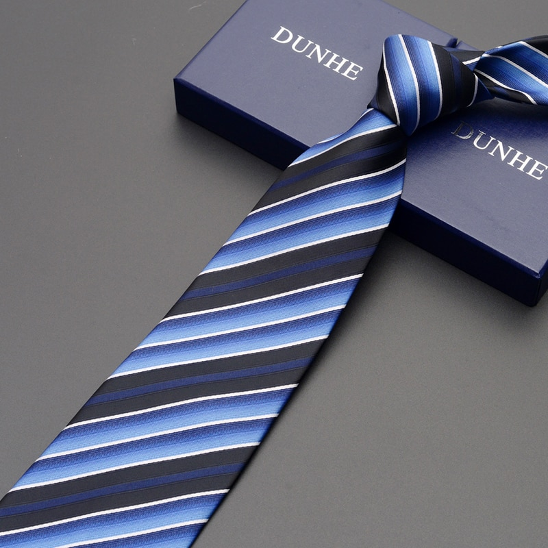 High Quality 2021 New Fashion Ties Men Business 9cm Orange Striped Silk Tie Wedding Ties for men Designers Brand with Gift Box