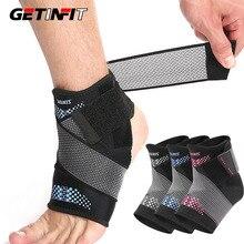 Getinfit 1PCS Pressurization Sports Ankle Brace Support Adjustable Elastic Bandage Foot Strap Protec