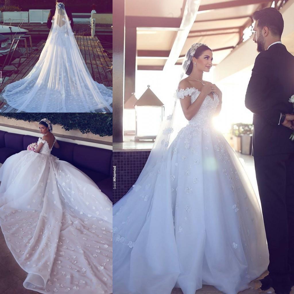 Бальное платье, свадебные платья, искусственная Кружевная аппликация, свадебные платья на заказ