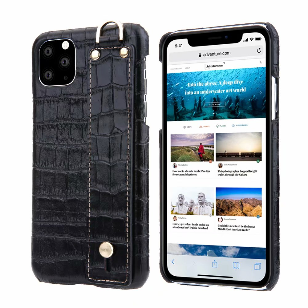 YXAYN-جراب هاتف من الجلد الطبيعي بنمط تمساح ، جراب صلب رفيع للغاية لهاتف iphone 11 Pro ، max ، X ، XS ، XR ، 7 ، 8 Plus