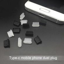 5 pièces couvercle Anti-poussière Jack chargeur prise type-c Port Anti-poussière pour téléphone portable nouveauté