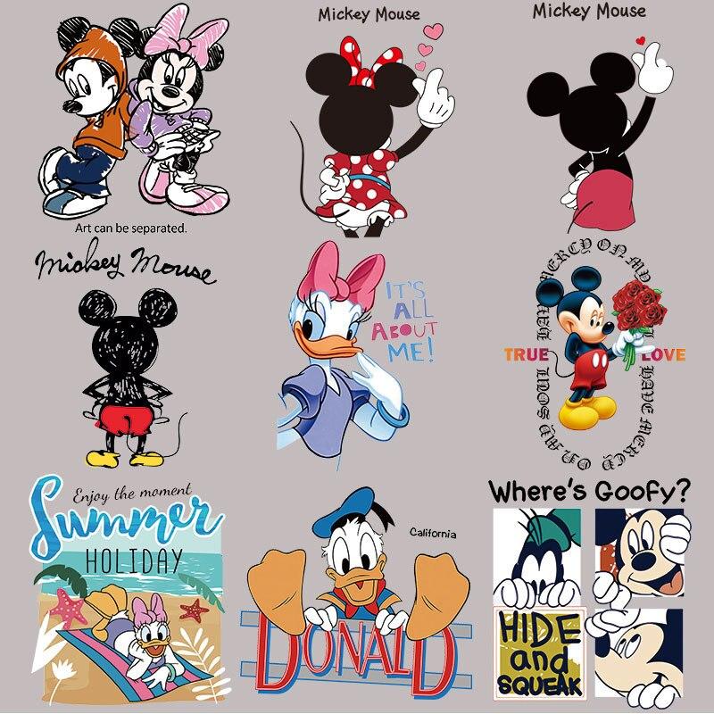 Нашивки с Микки Маусом для одежды Минни, наклейки с теплопередачей для футболки, железные нашивки для одежды для мальчиков и девочек, Kawii