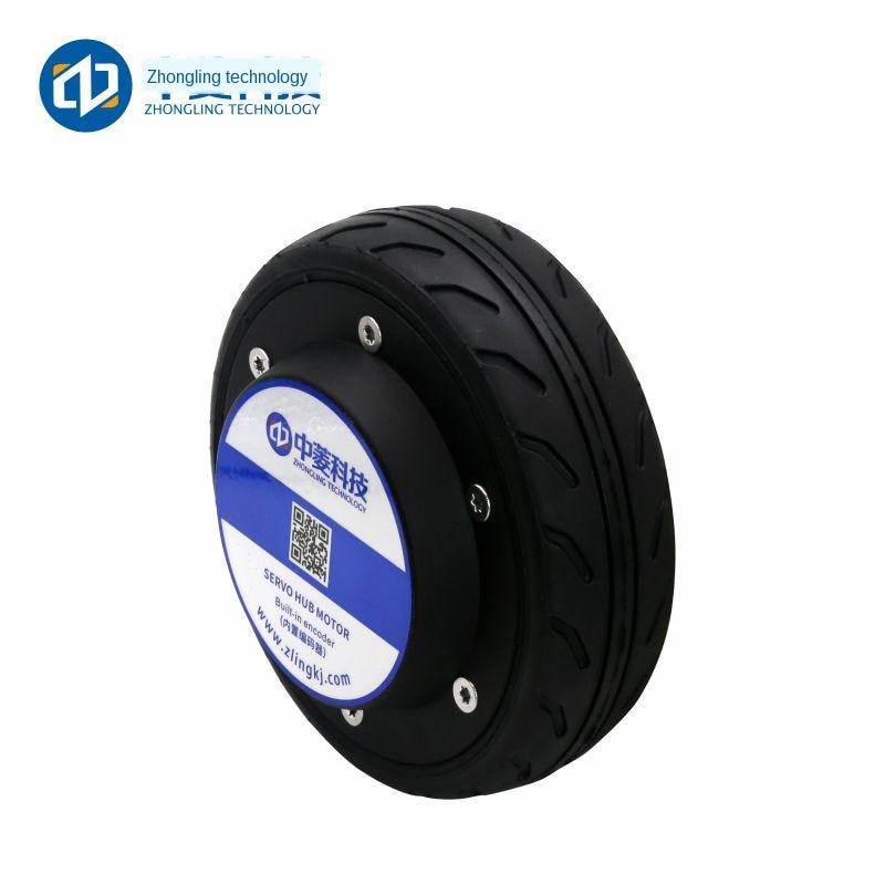 5-inch Built-in Encoder Robot AGV Trolley Wheel Hub Servo Motor Driver Set 24V Electrical enlarge