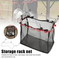 outdoor folding mesh net basket camping table storage table hanger hanging storage hanging basket finishing net
