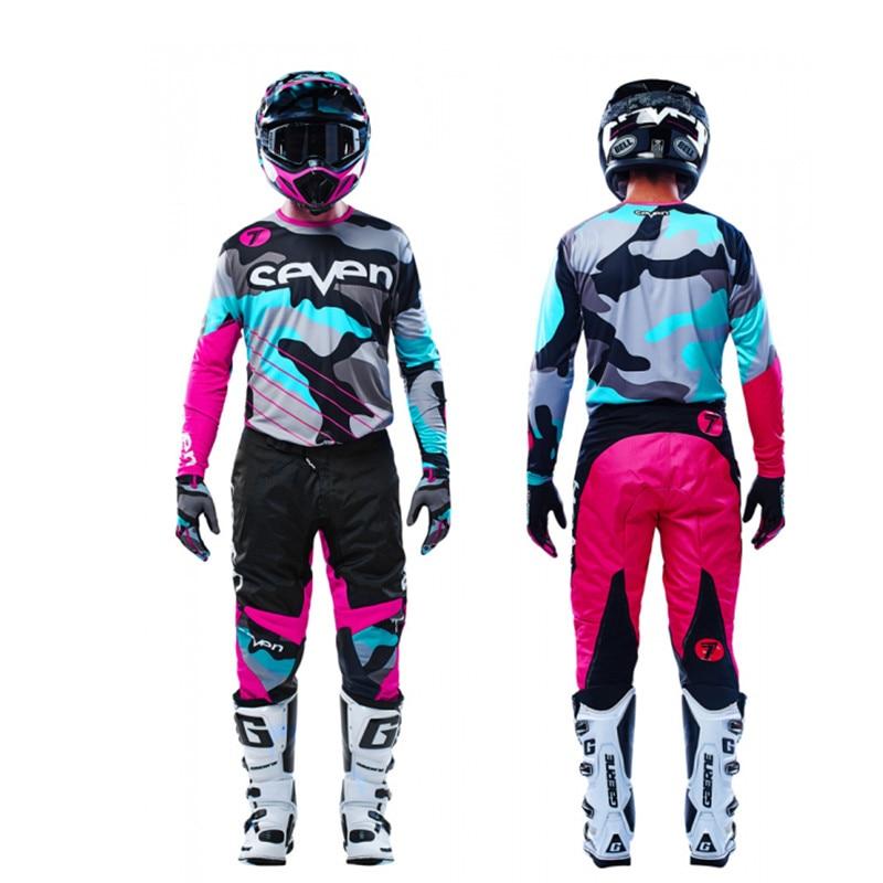 New Pink Seven MX Annex Motocross Gear Set Top Dirt Bike Suit MX Jersey And Pant