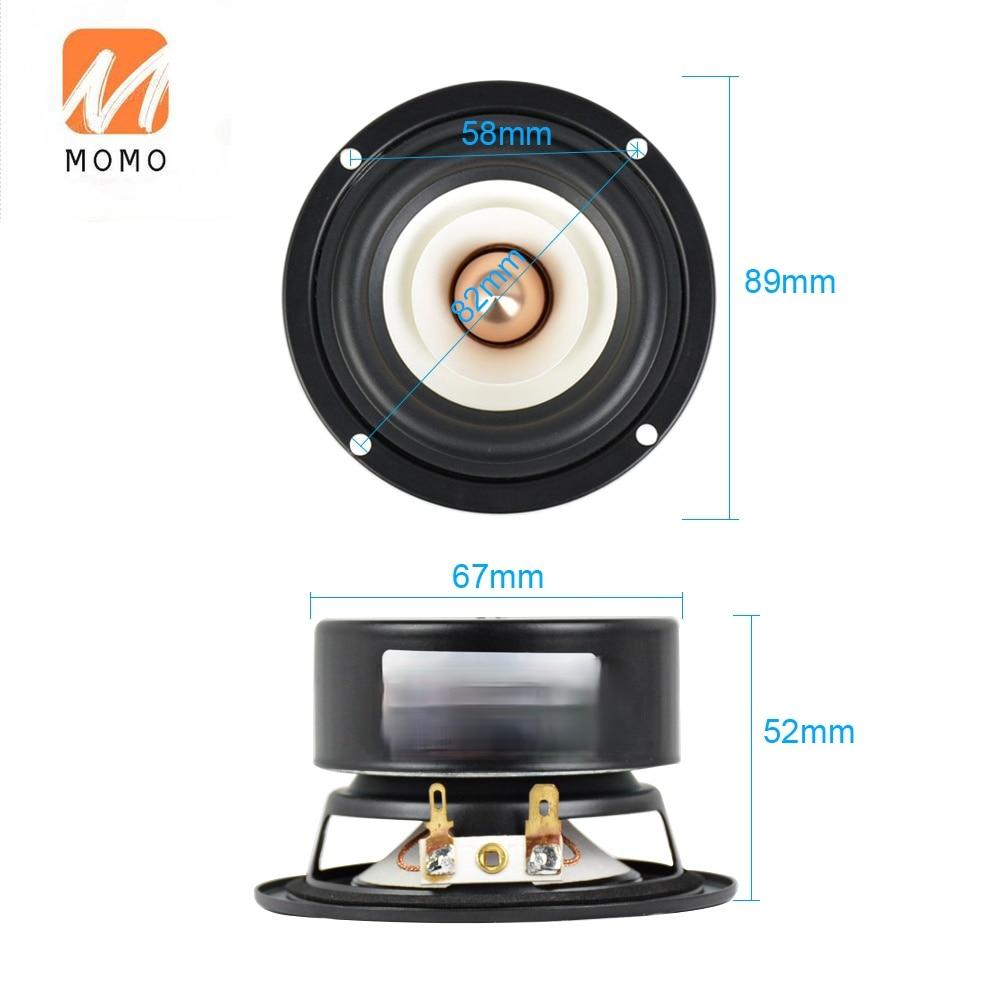 2Pcs 3Inch Audio Portable Speakers 4 Ohm 8 Ohm 15W Full Range Hifi Bass Speaker Altavoz Portatil Speaker DIY Home Theater enlarge