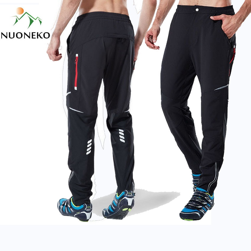 NUONEKO Cycling Pants Bike Sport Summer Spring Men Cloth Elasticity Bicycle Pant Quick Drying Riding Mountain Long Trousers PN19