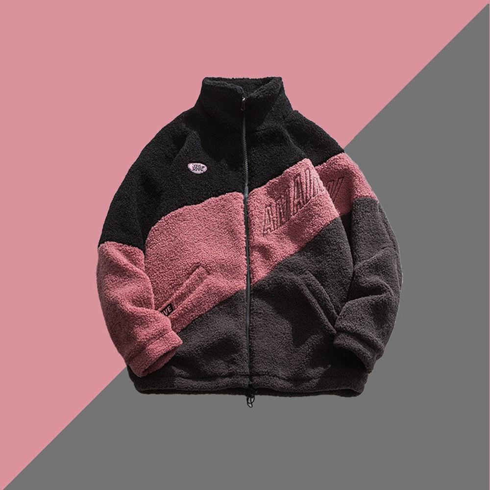 Мужская куртка в стиле Харадзюку, новинка 2021, мужские зимние и осенние флисовые ветровки, мужские куртки в стиле хип-хоп