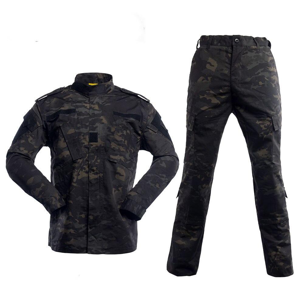 بدلة تمويه عسكرية سوداء متعددة حدبة من Tatico ملابس معدات معدات Airsoft لتمويه عسكري تكتيكي