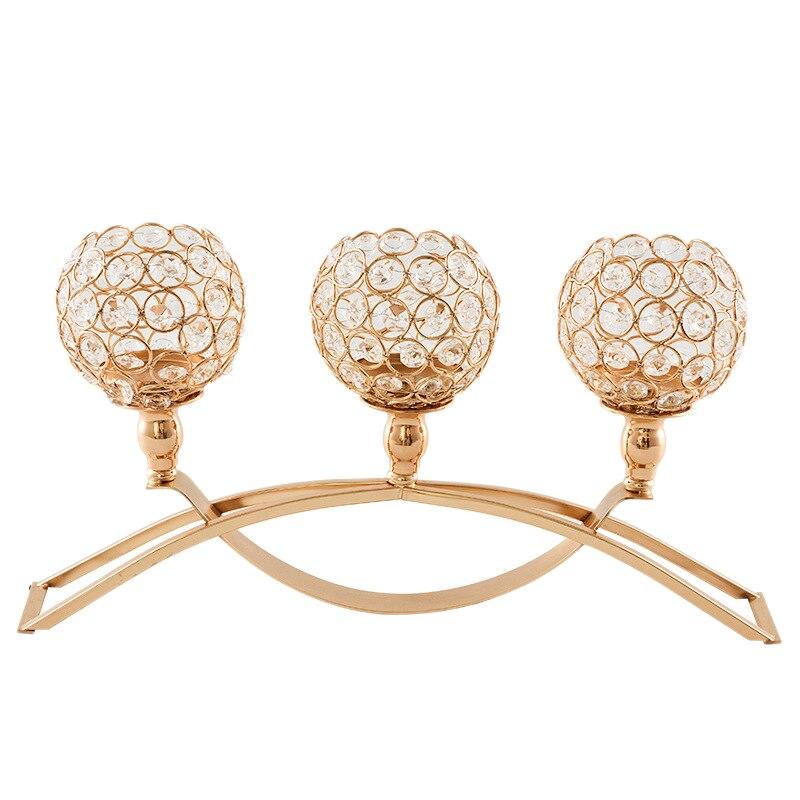 Suporte de velas de cristal, candelabros com 3 titulares, suporte de ferro, mesa de café, peças decorativas para sala de jantar, decoração, imperdível