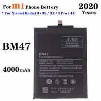BM47 аккумулятор 4000 мАч для Redmi 4x Аккумулятор для Xiaomi Redmi 3 3S 3X 3 Pro Аккумулятор для телефона высококачественные сменные батареи