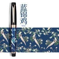 hongdian hand drawing fountain pen blue magpie nib 0 5mm nib fountain pens gift office business writing set stationery supply