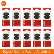 10 pieces/lot Original Xiaomi Redmi Airdots 2 Headset TWS True Wireless Bluetooth Earphone With Mic Earbuds Auto Link AI Control