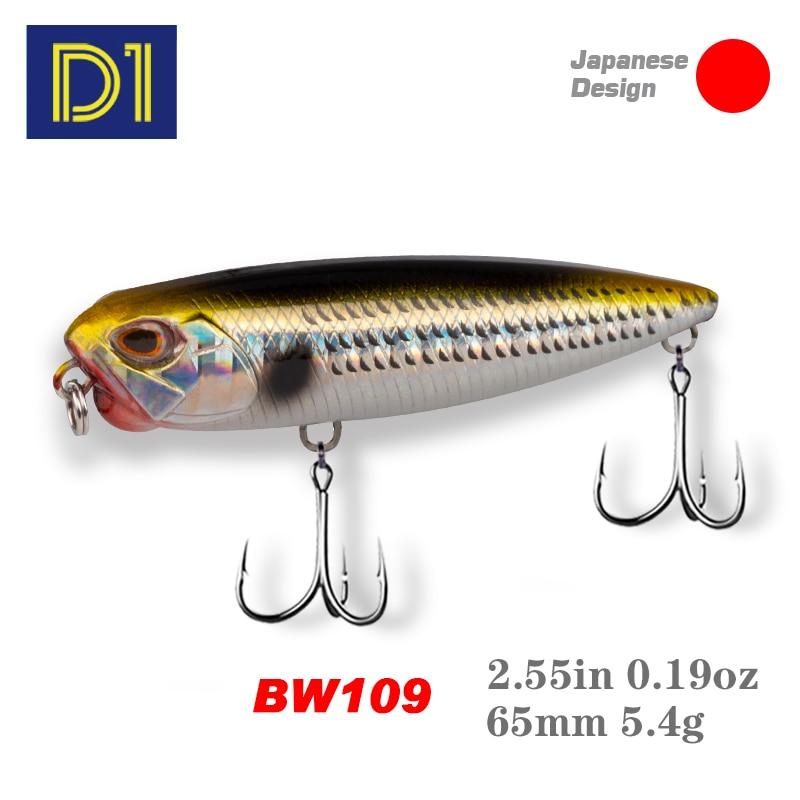 D1 REALIS CRAYON 65 Flottant Leurres De Pêche Appâts Artificiels pour la Pêche Crankbait Pêche Leurres de pêche à la carpe BW109