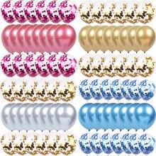 WEIGAO-Ballons à Air pour Ballons   Confetti danniversaire, Ballons en feuille à hélium, décorations de fête danniversaire pour enfants et adultes, Ballons argentés
