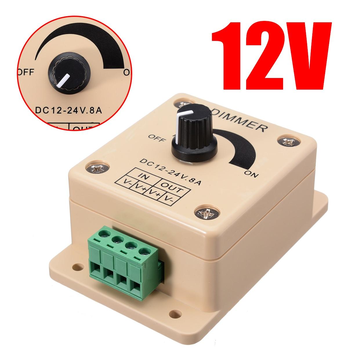 nova ajustavel 12 v 8a led luz de tira interruptor dimmer brilho controlador facil