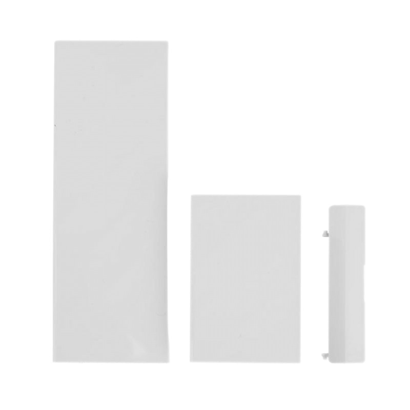 Super 3 en 1 Juego de cubierta de puerta controlador de consola de juegos funda de ranura de tarjeta de memoria cubre solapa de reemplazo para Wii 3