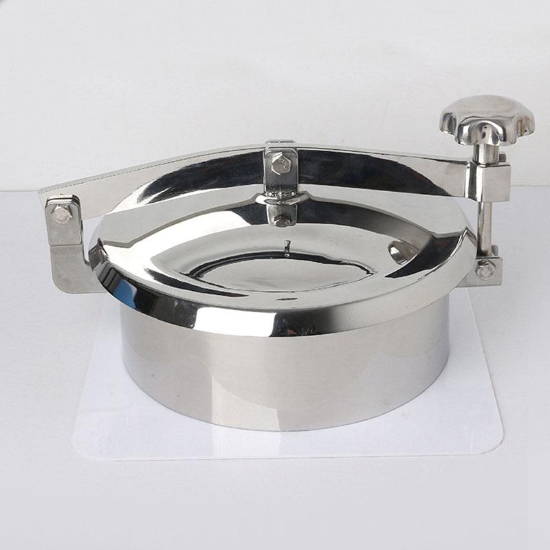 غطاء بالوعة الضغط الفولاذ المقاوم للصدأ الصحية مانواي غطاء 150 مللي متر-450 مللي متر غير الضغط الباب المستدير