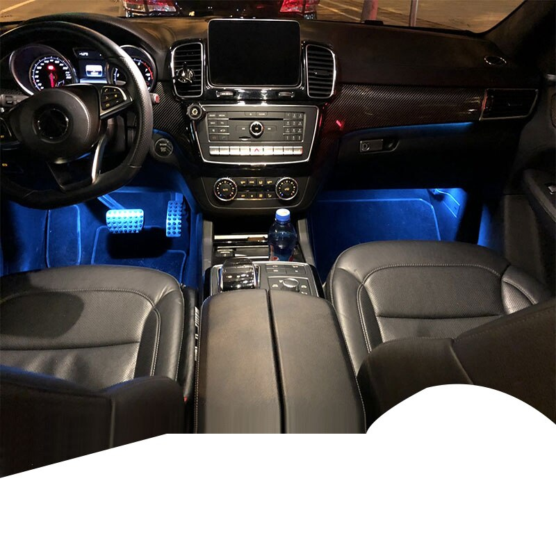 Lsrtw2017 luz inferior de almacenamiento Interior del maletero del coche para Mercedes Benz GLE GLS clase W166 X166 2013-2019
