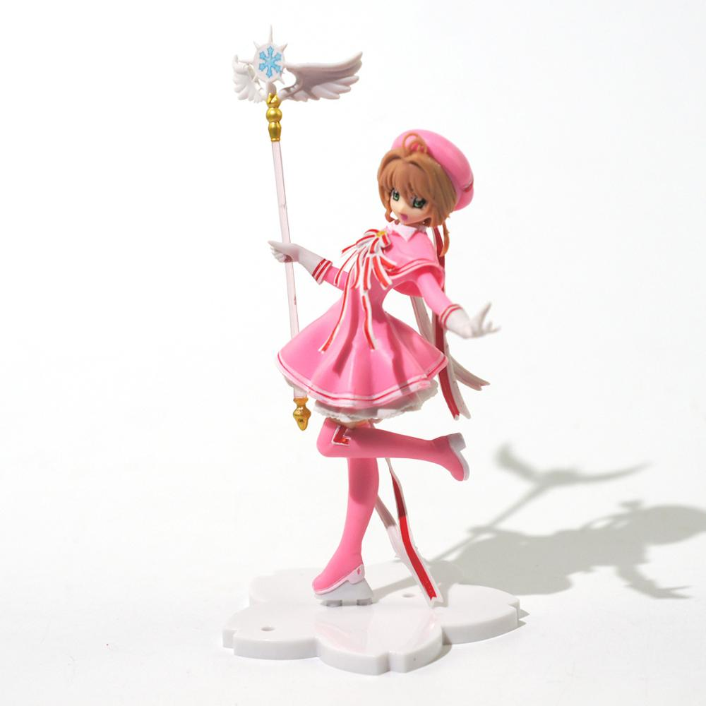 Anime Pink Card Captor SAKURA Action Figures Toys Girls PVC Figure Model Car Cake Decorations Toys Gift недорого