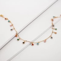 jewelry gifts simple temperament color sun flower necklace