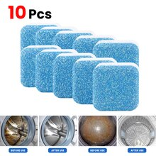10Pcs Washing Machine Cleaner Washer Cleaning Washing Machine Cleaner Laundry Soap Detergent Effervescent Tablet Washer Cleaner
