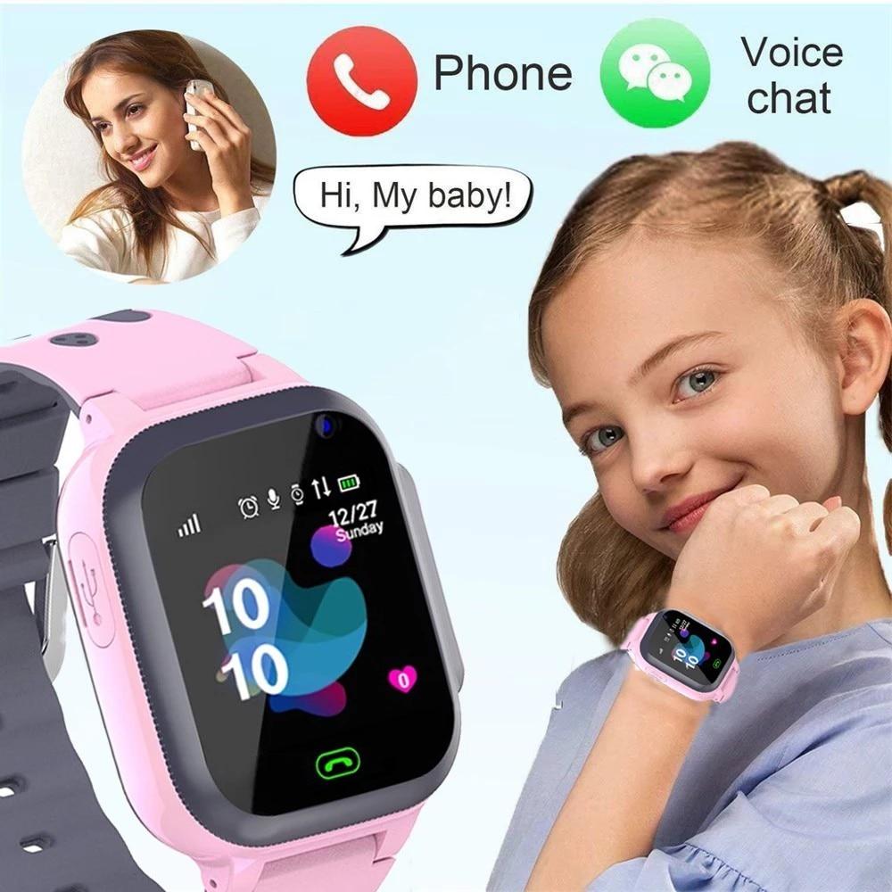 2021 kid Phone call Kids Smart Watch for children SOS Antil-lost Waterproof Smartwatch Baby 2G SIM Card Location Tracker watches