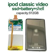 512GB SSD pour Ipod classic 7Gen Ipod video 5th remplacer MK3008GAH MK6008GAH MK801GAH MK1634GAL Ipod HDD disque dur