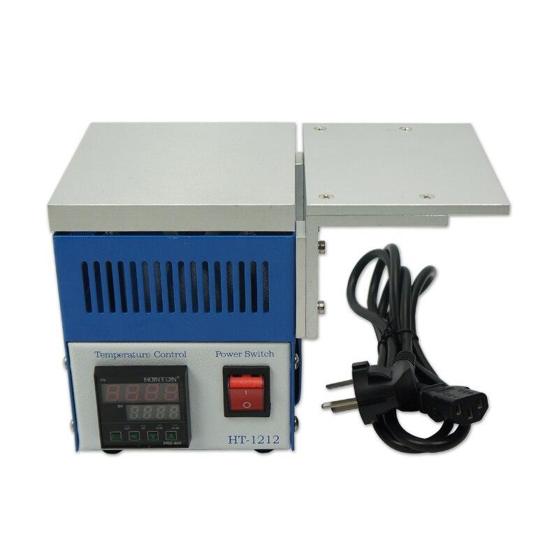 HT-1212B قبل سخان درجة حرارة ثابتة التدفئة لوحة محطة مع التبريد الألومنيوم لوحة لبغا reballing الساخن لوحة 800w