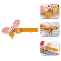 high quality hair jewelry butterfly and shaped hair pin with rhinestones excellent gift hair barrette acetate hair clips