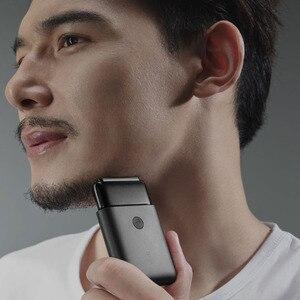Image 3 - Новейшая электрическая бритва Xiaomi Mijia с двойным лезвием, водонепроницаемая портативная мини бритва с ультра низким уровнем шума и зарядкой типа с