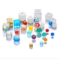 diy crystal round bead pendant epoxy mold uv resin silicone mold manufacturing mold jewelry accessories