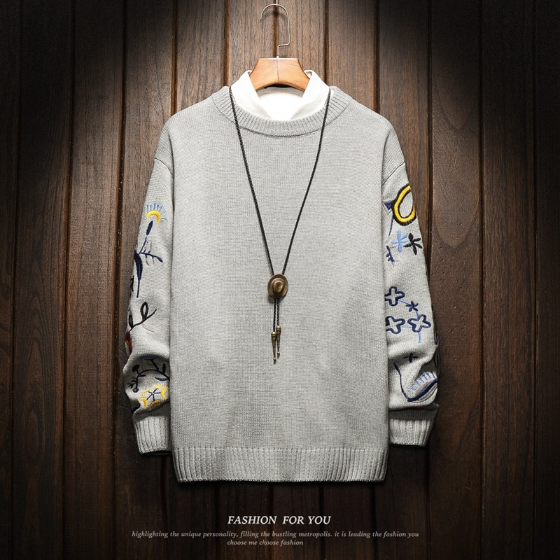 عيد الميلاد رجل كنزة الشتاء الملابس 2020 اليابان نمط عارضة القياسية مصمم البلوفرات