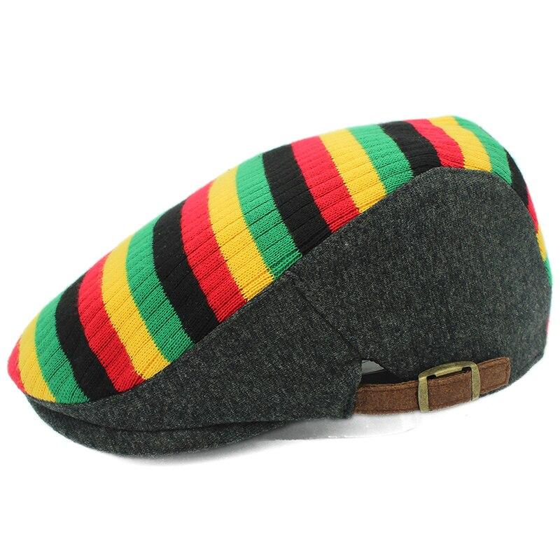 Мужские и женские береты для отдыха с радужной строчкой хлопковая шапка гусиным