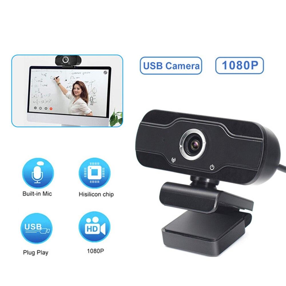 Caméra Web 1080P Full HD Webcam Mini caméra USB Web avec Microphone Auto Focus ordinateur Webcamera pour appel vidéo flux en direct chaud