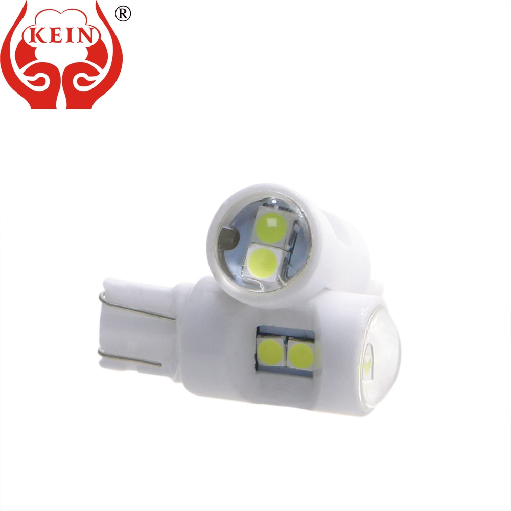 KEIN 10pc Ceramic with Lens T10 Led Car Light W5W 194 168 Led Light for Car Clearance Reading License Plate Lamp Car Accessories