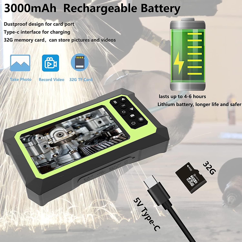 Upgraded Endoscope Camera 4.3 Inch LCD Screen 1080P HD Digital Borescope Inspection Camera