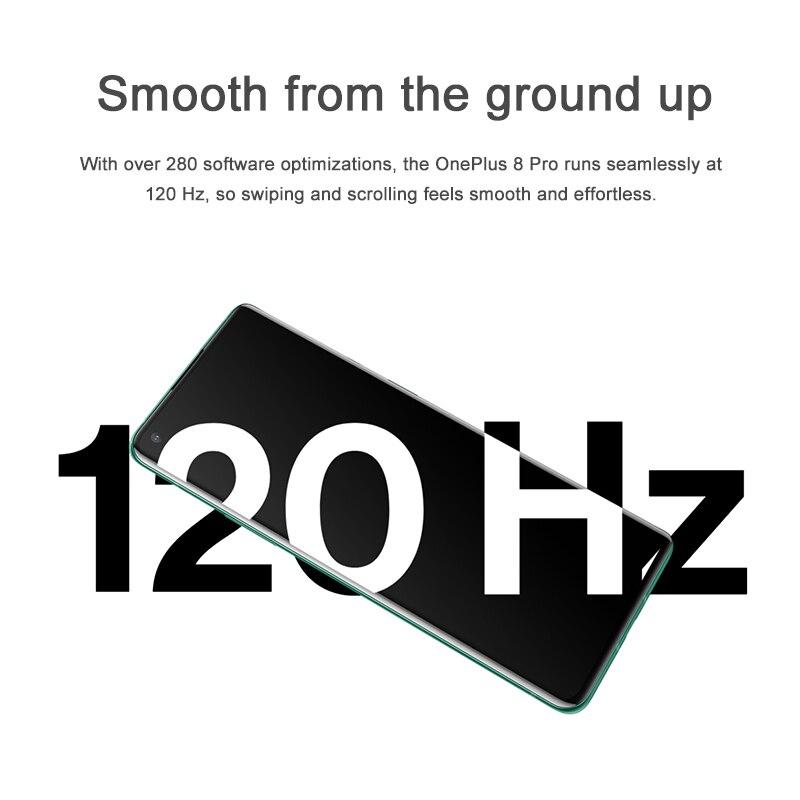 Фото3 - Смартфон Oneplus 8 Pro 5G OnePlus с глобальной прошивкой, Официальный магазин, Snapdragon 865, 8 ГБ ОЗУ, 128 Гб ПЗУ, экран 6,78 дюйма 120 Гц