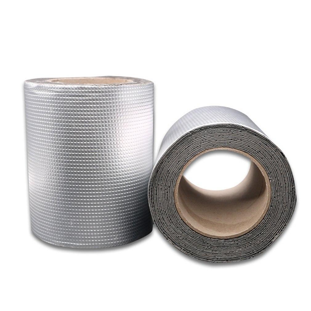 5cm x 5m fita de borracha butílica da folha de alumínio da qualidade forte tubo de vidro piso janela do telhado aferidor adesivo impermeável 1.5mm grosso