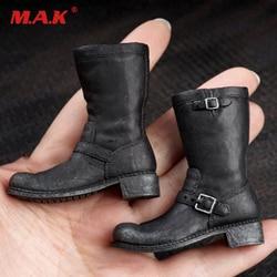 """1/6sacle arnold t800 botas figura masculina sapatos pretos para 12 """"figuras do corpo acessórios em estoque"""