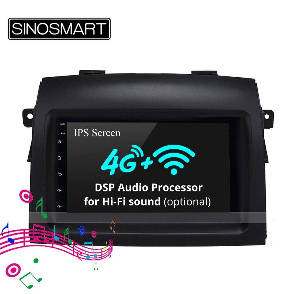 Reproductor de navegador SINOSMART GPS para coche de pantalla de 8 pulgadas para Toyota Sienna 2003-10 Corolla Prius 32EQ DSP, ranura para tarjeta SIM 4G opcional