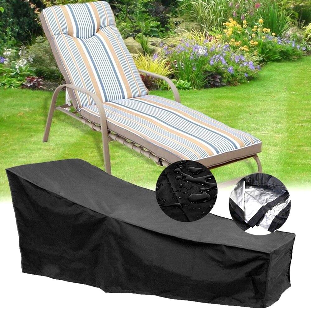 1Pcs Outdoor Beständig Stuhl Abdeckung Patio Chaise Lounge Abdeckungen Langlebige Möbel Schutz Schützen Staub und Sonnenschutz