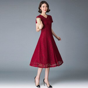 Silk dress women's summer silk lace noble temperament wedding mother dress hi mother in law wedding dress